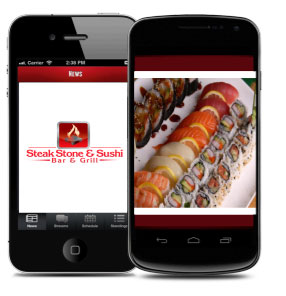 Picture of our app for mobile ordering.